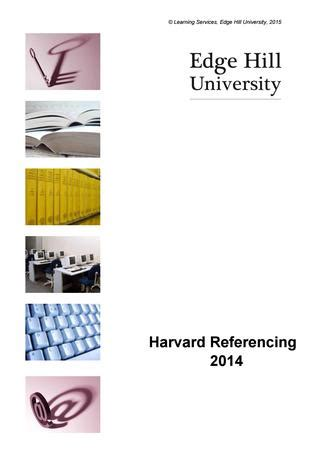 Harvard referencing research paper